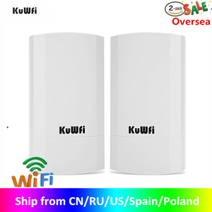 Image 1 - Kuwfi Router 1Km 300Mbps Draadloze Router Outdoor & Indoor Cpe Router Kit Wireless Bridge Wifi Repeater Ondersteuning Wds long Range
