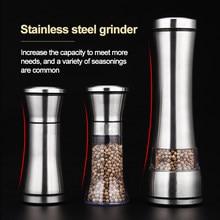 Salz und pfeffer korn mühle shaker edelstahl metall fleischwolf pulverisierer spice jar würze container küche werkzeuge