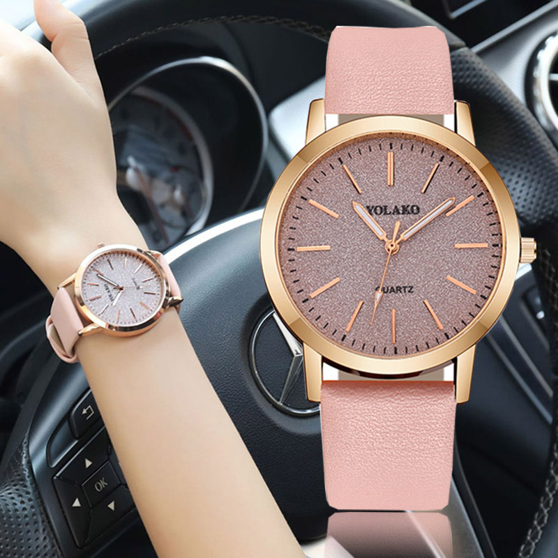 2019 New Women Quartz Watches Creative Matte Dial Ladies Wristwatch Minimalist Romantic Top Sale Relogio Feminino Fashion Trend