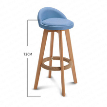 цена на Bar Stool Nordic Modern Minimalist Home Solid Wood High Stool Bar Stool Bar Chair Leisure Back Chair Stool 63/73cm Seat Height