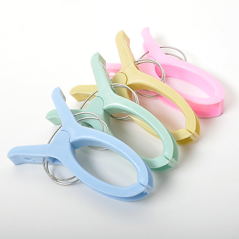 Plastic Color Clothes Pegs Beach Towel Clamp Laundry Clothes Pins Large Size Drying Retaining Clip Organization Clothes Rack