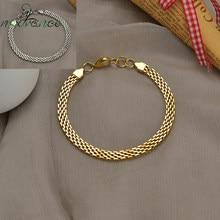 Nextvance – Bracelet chaîne en maille carrée, en acier inoxydable, dernière tendance, pour petit ami, femmes, Couple, fille, cadeau quotidien, livraison directe
