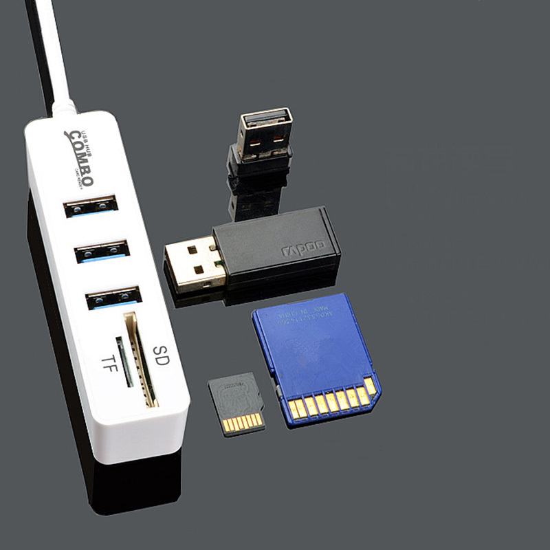 Image 5 - New USB 2.0HUB Hub with SD TF All in One Card Reader 3+2 Combo  Multi function Card Reader-in Card Readers from Computer & Office