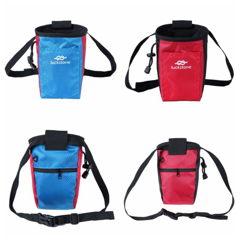 Hiking Climbing Chalk Bag Caving Storage Pouch With Waist Belt Rock Bouldering Gymnastics Weightlifting Sports Support