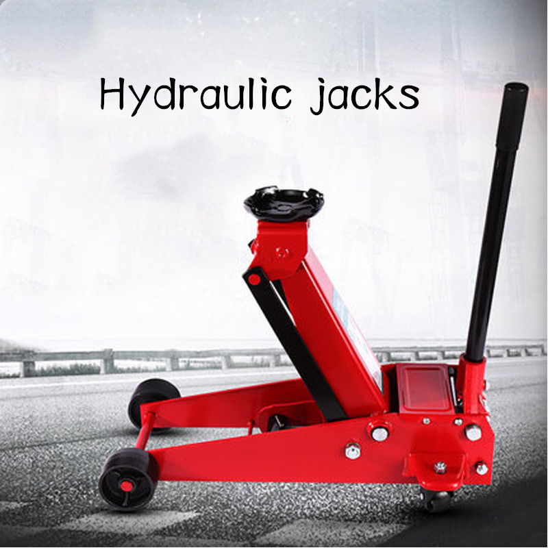 Horizontal Hydraulic Jack 2T Car Jack Car Oil Pressure Gold Top Tire Replacement Tool
