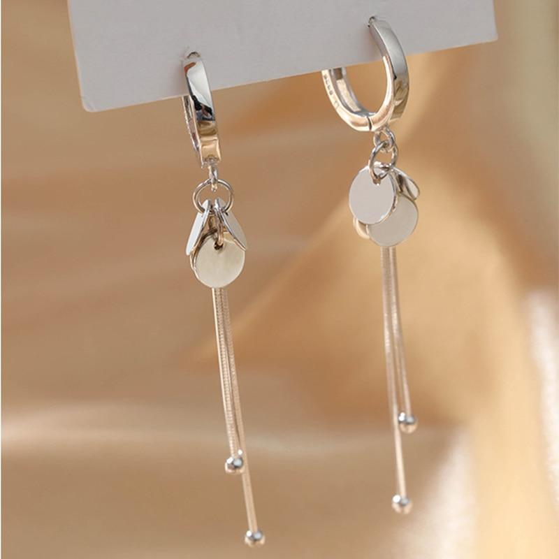 XIYANIKE 925 en argent Sterling nouveauté rond marque gland longues boucles d'oreilles tempérament Sexy mode INS bijoux faits à la main 2