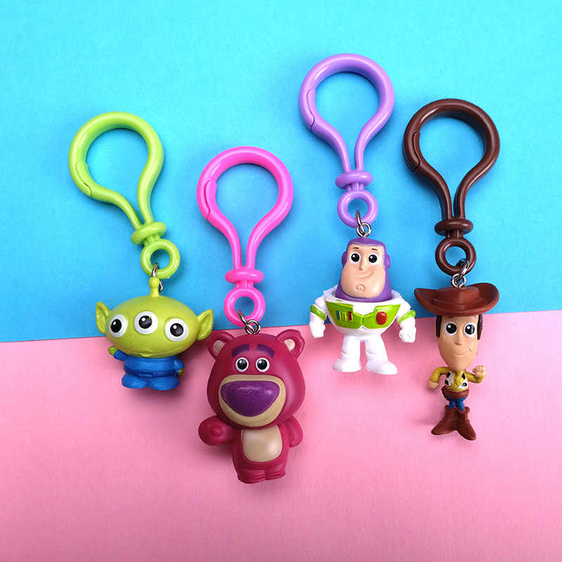 История игрушек брелок для ключей деревянные инопланетяне клубника Базз Лайтер брелок ПВХ фигурка игрушки куклы, детский подарок Brinquedo