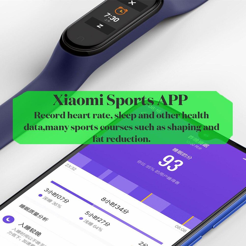 bluetooth 5.0 mi banda inteligente 4 pulseira