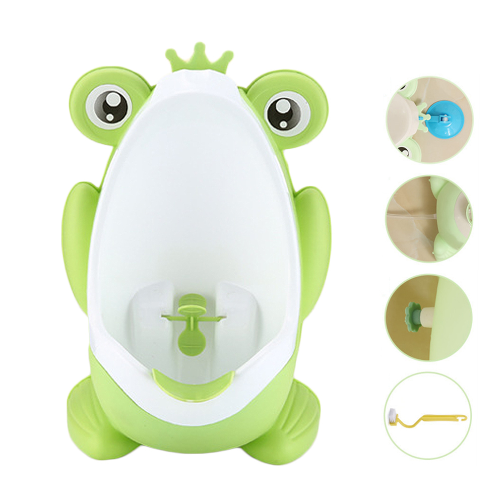Baby Boy Cartoon Potty Toilet Training Frog Kids Children WC Stand Vertical Urinal Infant Toddler Wall-Mounted Potty Boys Urinal image