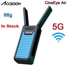 InStock Accsoon CineEye אוויר 98g 5G WIFI אלחוטי וידאו משדר 100m FHD 1080P HDMI שידור עבור smartphone המצלמה Gimbal