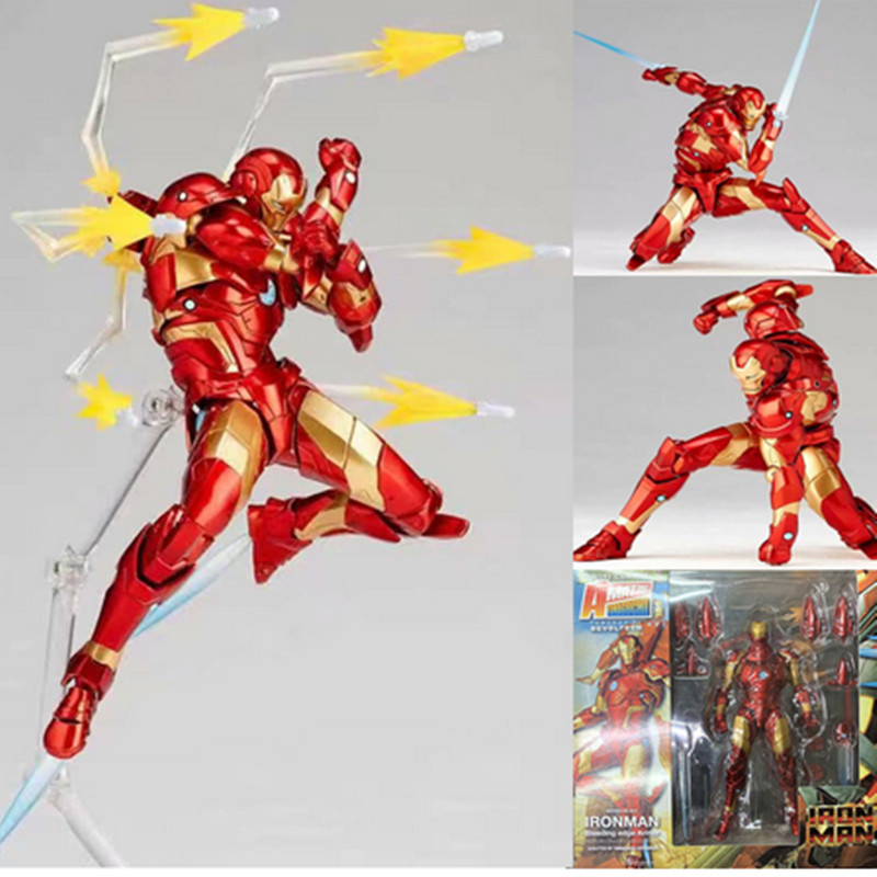 18cm New Style Amazing Yamaguchi No 013 Iron Man Mk37 Bleeding Edge Armor Action Figure Collectable Model Toy Doll Gif Aliexpress
