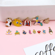 6pcsSpacecraft Girl Cute Cartoon Earrings Lovependant Jewelry Accessories Metal Zinc Alloy  Japanese and Korean Fashion Women