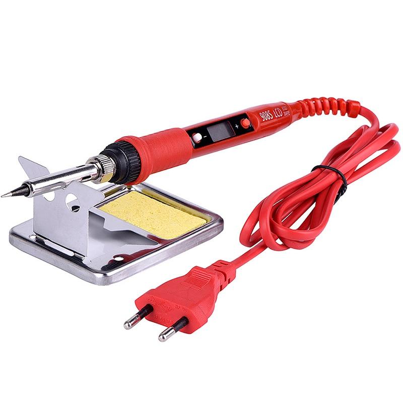 Soldering Iron Insulation Soldering Iron 220V Mat Station JCD 80W Temperature ESD Kit Soldering 110V Working Adjustable LCD
