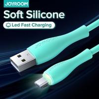 Joyroom 2m cavo Micro USB ricarica rapida per Xiaomi Samsung Huawei Android TPE cavo di ricarica per telefono cellulare in Silicone cavo dati
