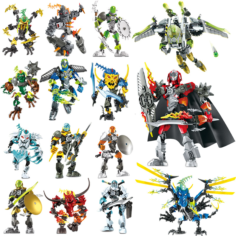 DECOOL Hero Factory 5.0 Fit Robot Furno Pyrox Hero Factory 6.0 Bionicle Building Blocks Bricks Toys For Children Boy Gifts