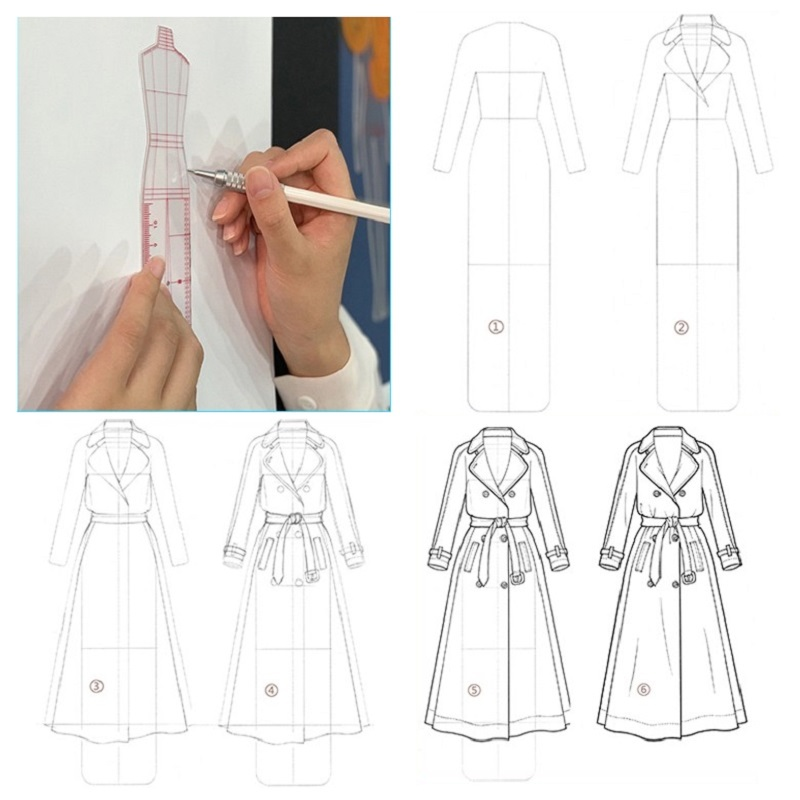 Clothing Design Style Drawing Template Ruler Body Model Fashion Ruler Aliexpress