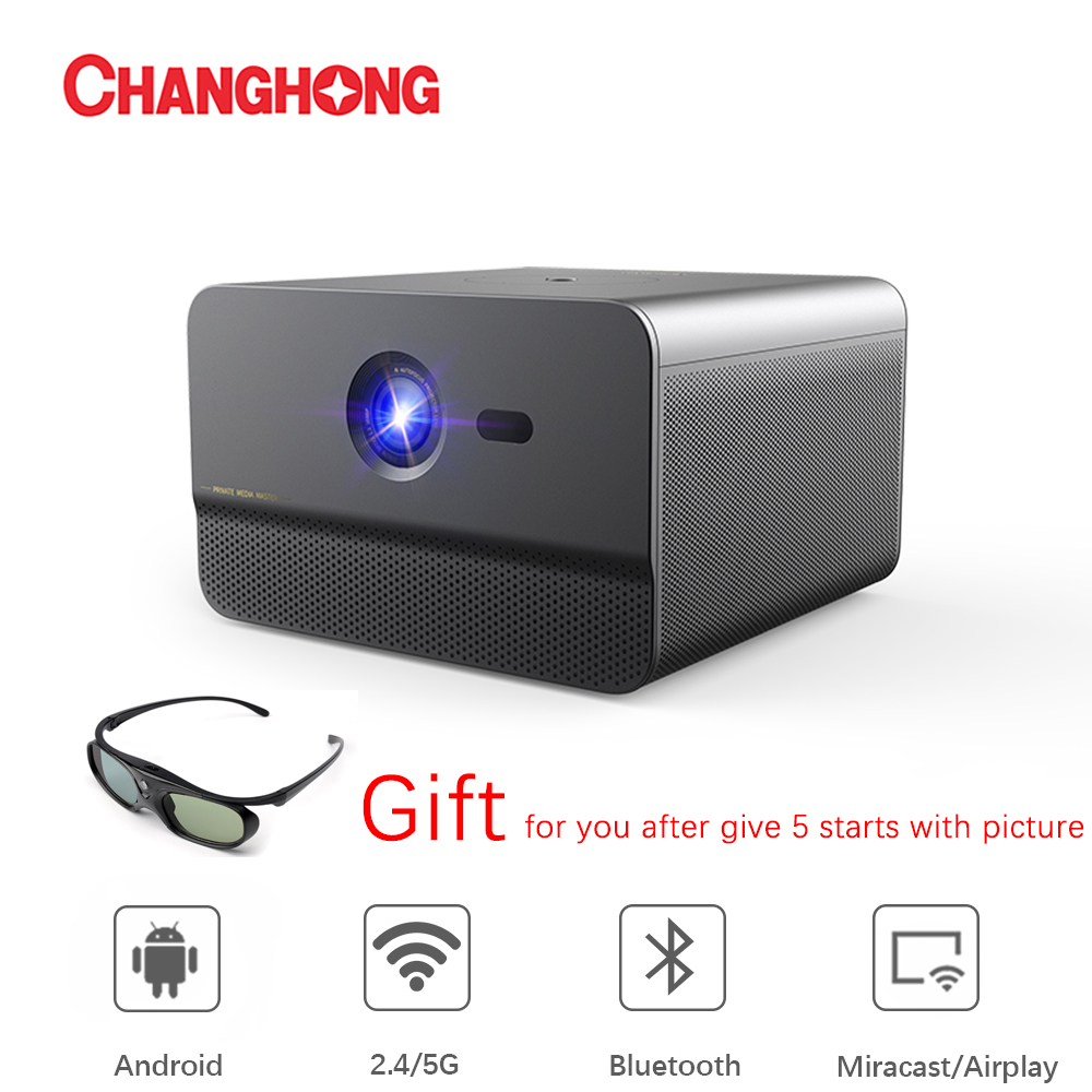 Changhong C300 DLP 1080P проектор Full HD 800 ANSI с Android Wifi домашний кинотеатр Поддержка 3D 4K ТВ смартфон проектор