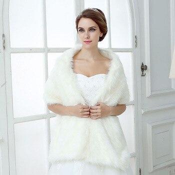 YULUOSHA Bride Wedding Plush Shawl Wedding Dress Shawl Cashmere White Simple Autumn and Winter Warm Scarf Bride Long Shawl фото