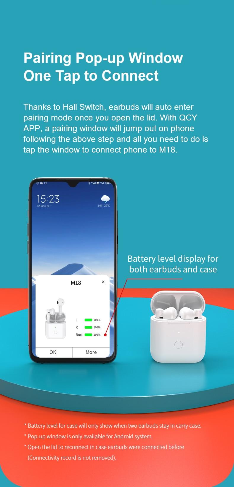 QCY M18 TWS Earbuds IPX4 HiFi Sound 9