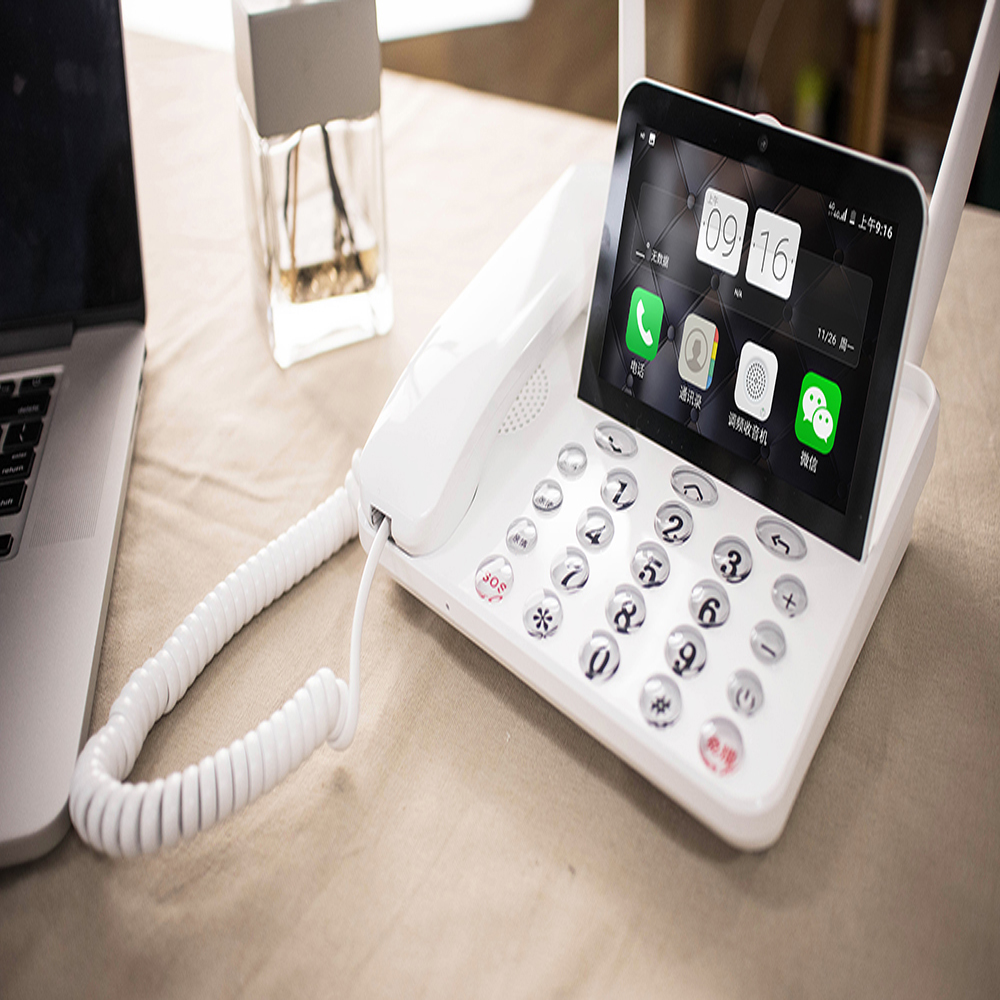 Smart Wireless Landline Phone 4G LTE Android OS P1 internation Language and Apps Remote control Smart Phone image