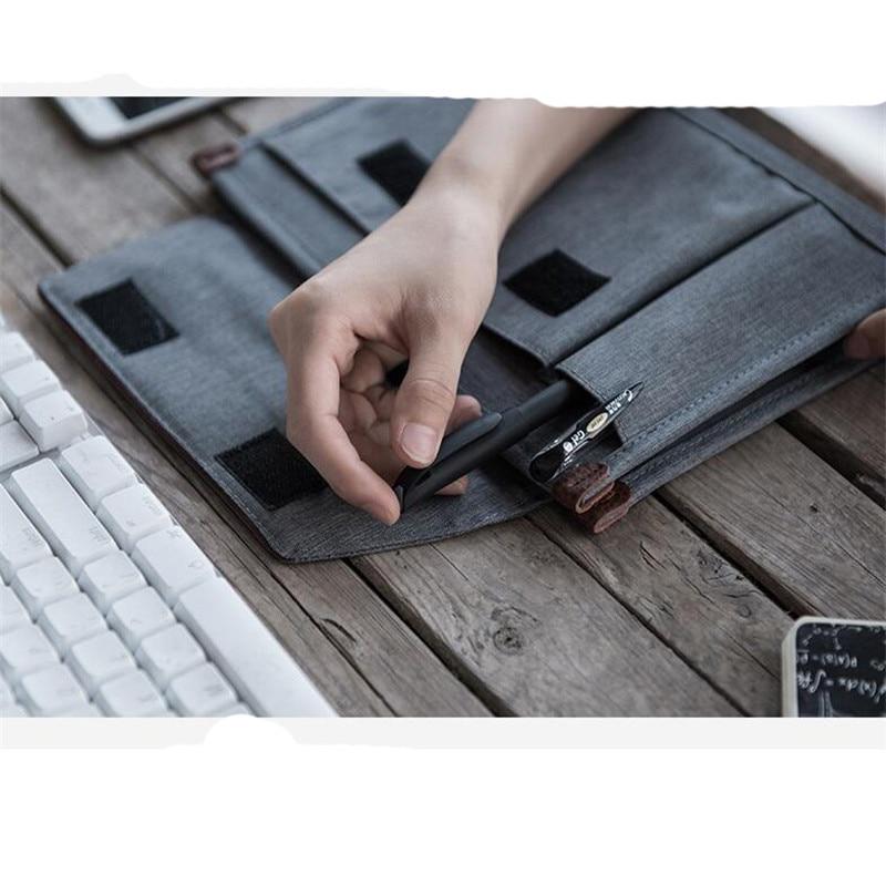 Minimalist Travel Document Bag Portable File Folder Waterproof Oxford Briefcase Notebooks Phone Storage Case Travel Accessories