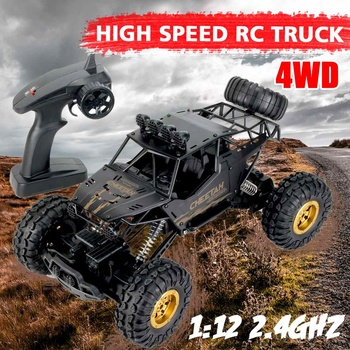 36cm 1:12 4WD RC Cars Updated Version 2.4G Radio Control RC Cars Toys Buggy~High speed Trucks Off-Road Trucks Toys for Children 2