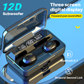 Беспроводные наушники TWS Bluetooth 5,1 12D бас стерео водонепроницаемые наушники гарнитура с микрофоном зарядный чехол