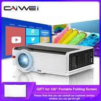 Caiwei A9/A9AB Smart Android WiFi LCD LED 1080p proyector de cine en casa 8000 Lumens Full HD Video móvil Beamer para teléfono inteligente TV