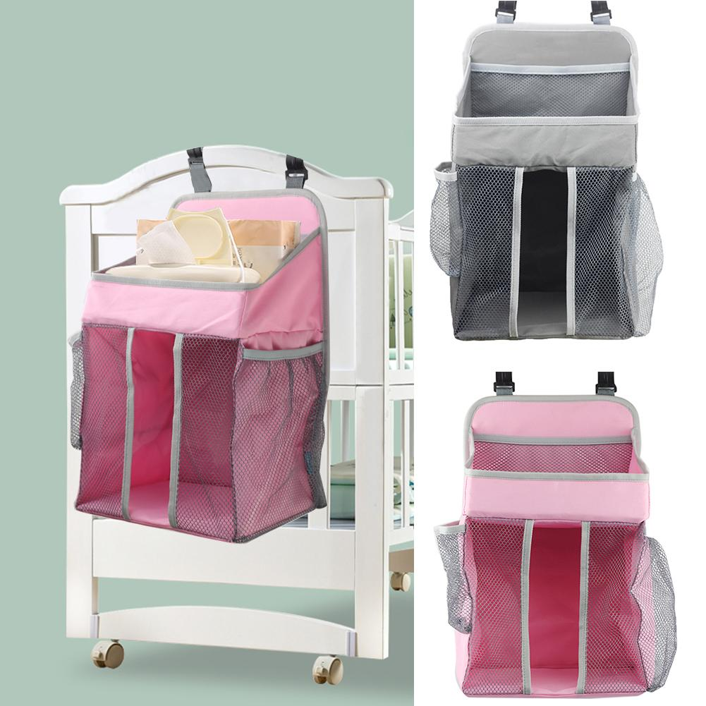 Baby Bed Crib Hanging Bags Soft Surface Safety Breathable Portable Bedside Organizer Diaper Storage Bag Box Bedding Accessories