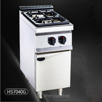 HS7040-G Vertical double-head gas stove firepower adjustable commercial furnace Stainless steel cooking stove Kitchen tools 11KW