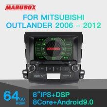 Штатная магнитола для Mitsubishi Outlander 2006 2012, MARUBOX KD8063, Штатное головное устройство для Outlander , Android 9.0, Восьмиядерный процессор,встроенный DSP, IPS экран, Встроенная 64GB, BlueTooth, DVD