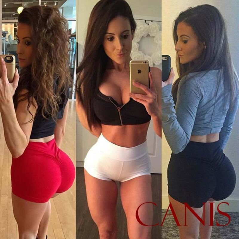 Sexy Women's Sports Shorts Athletic Gym Workout Fitness Solid Color High Waist Yoga Leggings Briefs