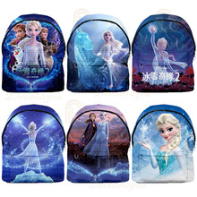 3D Frozen Children Backpacks New School Bag Girls Travel Shopping Backpack Kids Cartoon Movie School Bags neko atsume backpack for teenagers girls cartoon cat backyard print school bags daily bag women travel bag kids school backpacks