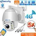 Sim карта 4g Wifi IP PTZ камера 5x оптический зум Открытый Onvif двойной светильник купольная камера видеонаблюдения безопасности CCTV CamHi