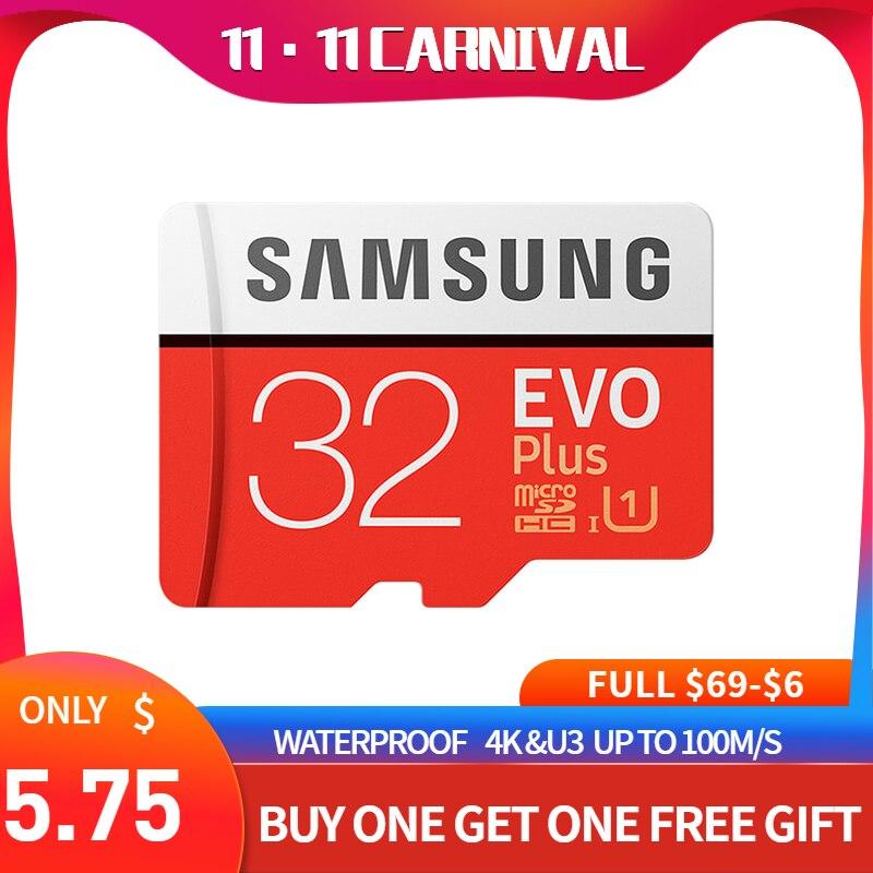 Samsung Evo più micro sd card 32GB 64GB 128GB 256GB 512GB sdxc u3 cartao de memoria tarjeta sd compact flash tablet computer portatile