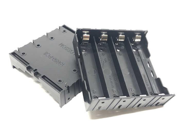 MasterFire 500 pz/lotto 4x18650 Scatola di Immagazzinaggio Della Cassa di Batteria di Plastica 4 Slot Batterie Clip Holder Contenitore Con Filo FAI DA TE piombo Spille