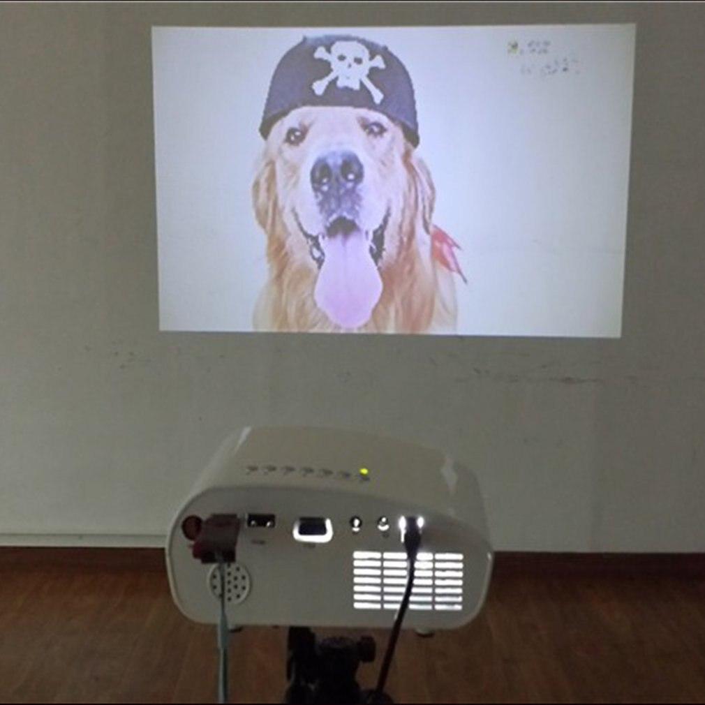 Rigal RD802 Portable film vidéo projecteur Home cinéma 480x320P USB VGA haute définition entrée film vidéo projecteur