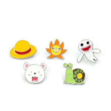 Hot Anime One Piece Skull Enamel Pins Brooch Cosplay Props Devil Fruit Grass Cap Badge Costumes Accessories Luffy Brooches(China)