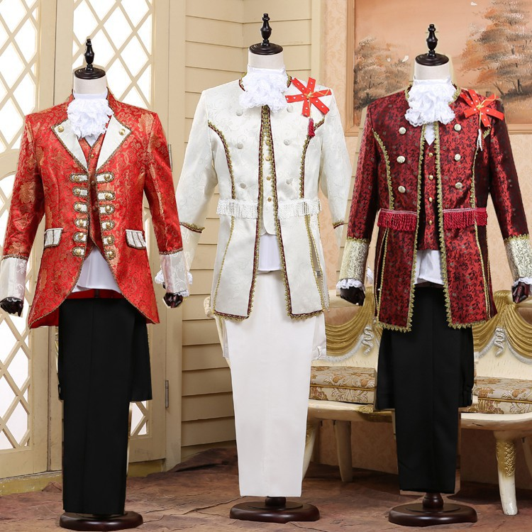 Palace Formal Dress Europe MEN'S Costumes Prince Charming Stage Retro Performance European Style Studio Photo Shoot Adult