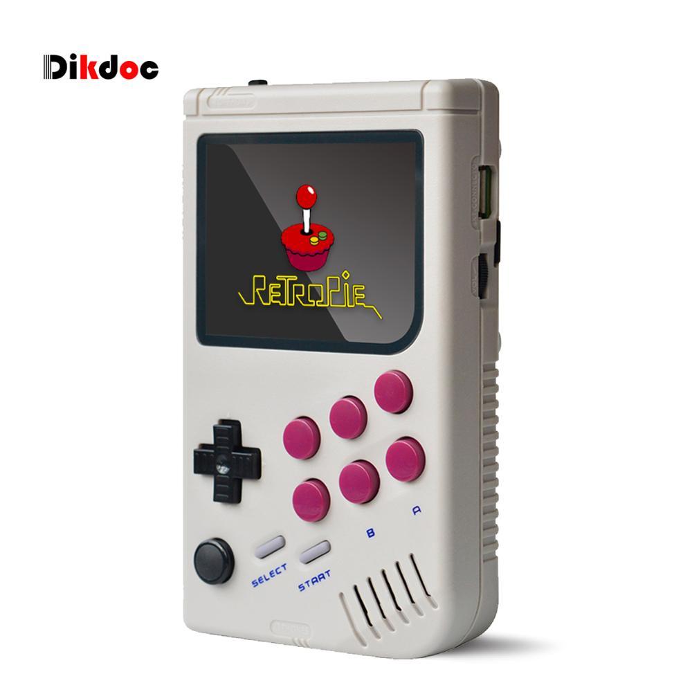 Dikdoc портативная игровая консоль, плеер Raspberry Pi boy 3A +, портативная Классическая видеоигра, 3,5 дюймовый IPS экран, встроенный 10000 игр
