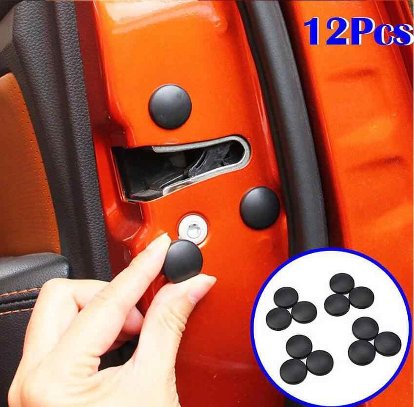 Kunci Pintu Mobil Sekrup Penutup Pelindung untuk Dacia Duster Logan Sandero Stepway Lodgy MCV 2 Dokker Mobil Styling Aksesoris