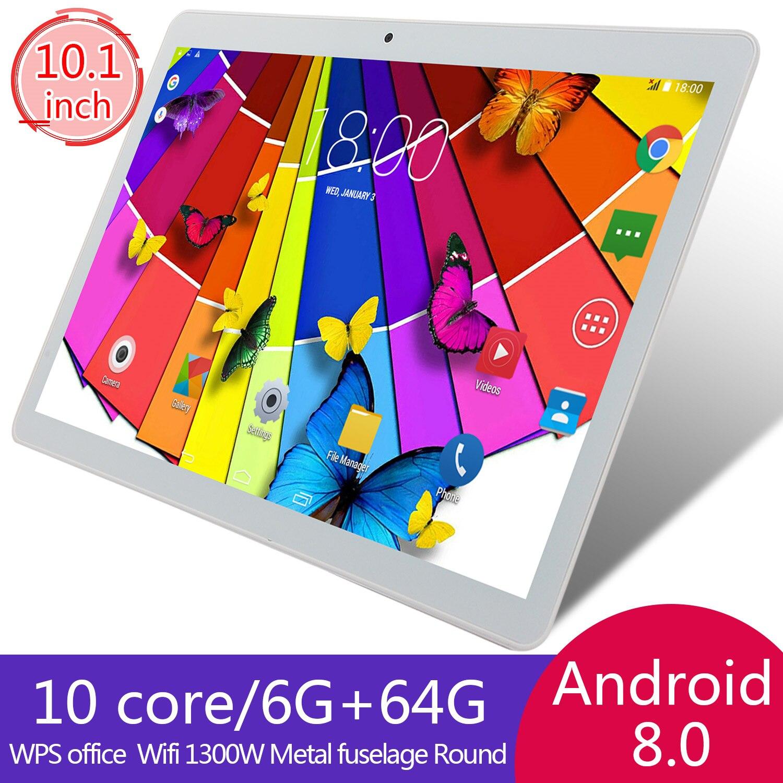 Планшеты Android 8,0 компьютер ПК 10 дюймов десятиядерный GPS WI-FI планшет с двумя камерами Pad Поддержка Dual Sim карты 4G Телефонный звонок
