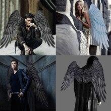 Белые Крылья Ангела и черные крылья падшего ангела на Хэллоуин Марди Гра косплей ролевые игры наряды костюм аксессуар улица