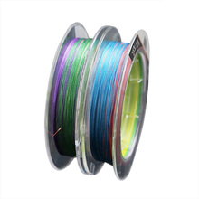 100M 9 Stands Braided Fishing Wire PE Line Colorful Leader Fly Rope Outdoor Accessorie