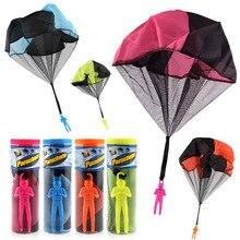 Finebaby 4 шт. набор запутывание бесплатно парашютные фигурки ручной бросок Soliders квадратный открытый дети летающие игрушки