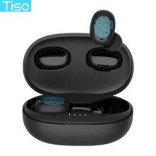 Tiso i6 כפול מצב אלחוטי אוזניות מגע השליטה חלקה Bluetooth 5.0 אוזניות רעש ביטול מיקרופון 3D TWS סטריאו אוזניות