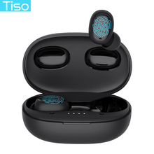 Tiso i6 çift modlu kablosuz kulaklık dokunmatik kontrol dikişsiz Bluetooth 5.0 kulaklık gürültü iptal Mic 3D TWS stereo kulaklık