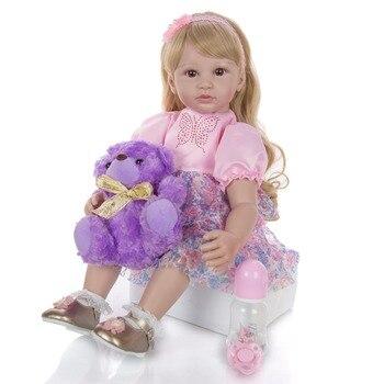 Dollmai 24 Inch Bebes Reborn toddler girl doll lol 60 cm Silicone Soft Realistic Princess reborn doll toys Kid Birthday gift