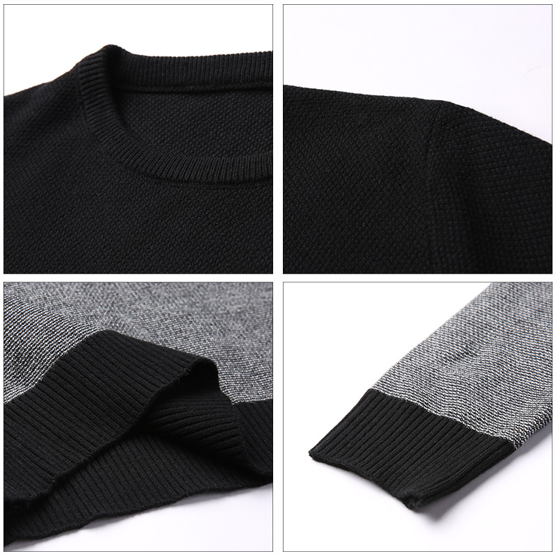 AIRGRACIAS 2019 Brand Casual Men Pullovers Knitted Striped Male Sweater Men Dress Thick Mens Sweaters Jersey Clothing Autumn New 3
