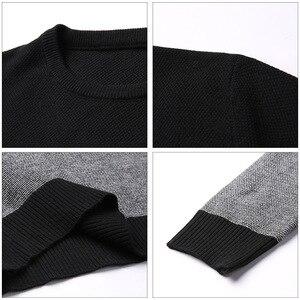 Image 5 - AIRGRACIAS 2019 marka Casual Men swetry z dzianiny w paski męski sweter mężczyźni sukienka grube męskie swetry Jersey odzież jesień nowy